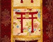 Torii Gate Panel Quilt ePattern, 4241-11e, Japanese wall hanging, Japanese wall quilt pattern