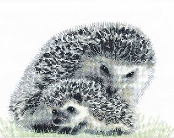 NEW UNOPENED Counted Cross Stitch Kit Charivna Mit BT-134 Hedgehogs