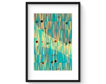 LATTICE no.11 - Giclee Print - Mid Century Contemporary Modern Abstract Modernist Geometric Art