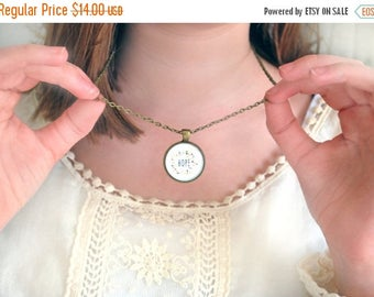 SUMMER SALE Hope Necklace - Hope Pendant - Encouragement Gift - Inspirational Jewelry - Hope for the Cure - Faith Hope and Love - Motivation