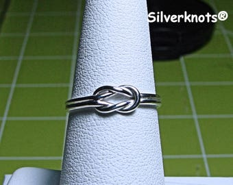 Sterling Silver Square Knot Ring. Bes Friends Forever!