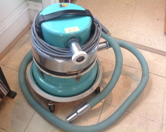 Vintage Silver King Canister Vacuum Cleaner AE 313396 Attachments Mid Century