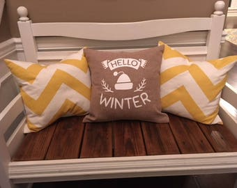 Hello Winter Pillow Cover 18x18