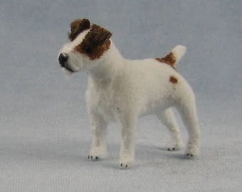 Jack Russell Terrier Soft Sculpture Miniature by Marie W. Evans