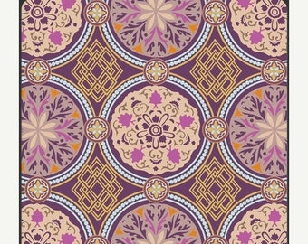 SALE 10% Off - MEDALLION GOLDEN (Ba402) - Bazaar Style -  Patricia Bravo for Art Gallery Fabrics - By the Yard