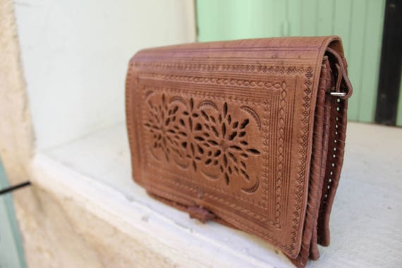 SALE Leather bags for women,leather wallet,leather tooled bag ,leather crossbody bag,pochette femme POCHETTE cuir taupe marron