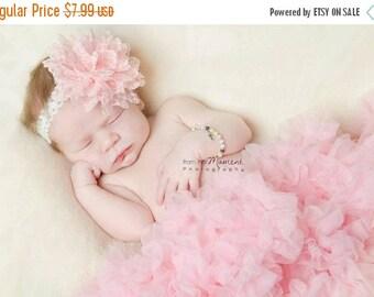 12% off Baby headband, newborn headband, adult headband, child headband and photography prop -Waffle fabric flower headband