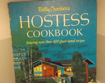 vintage cookbook, bridal shower gift, cooking,kitchen decor, kitch gift, hostess gift, Betty Crocker
