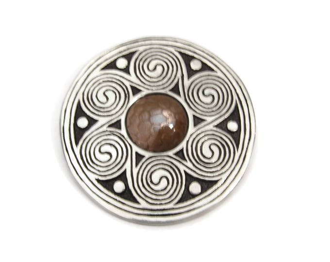 St.  Justin Pewter and Copper Celtic Brooch