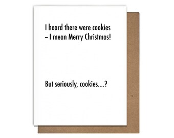 Christmas Cookies Letterpress Holiday Card Funny