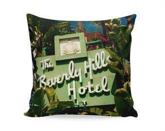 READY TO SHIP | Beverly Hills Hotel Pillow Cover | Mid Century Modern Decor | Mid Century Pillow | Hollywood Decor | Decorative Pillow Cover