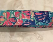 "Tropical punch colorful floral Lilly  custom 1"" dog collar"