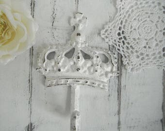 coat hook french country crown hook cottage chic decor rustic hook decor white wall hook jewelry hanger clothing hook nursery decor
