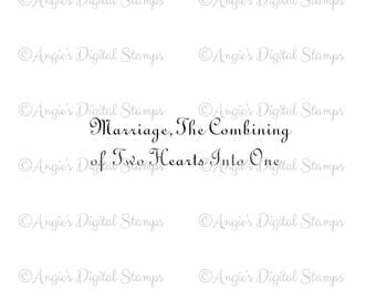 Marriage Quote Digital Stamp Image