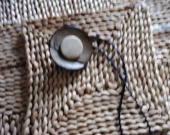 Coconut Shell and Bone  Holder for Natural Hair/Dreadlocks