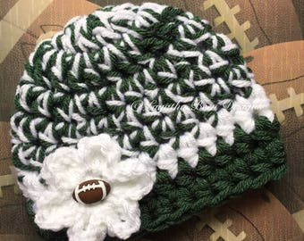 New York Jets inspired baby hat  - photo prop - sports prop  - made to order