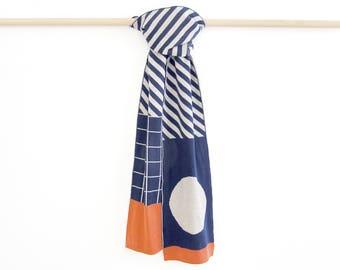 Best scarves Merino scarf Soft wool scarf Blue Merino scarf Wool Womens Merino Scarf Mens Scarf Women Merino Scarf Merino Wool by Olula