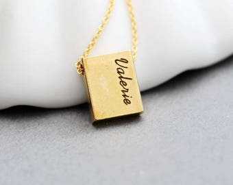 Personalized Name necklace, Bridesmaid jewelry, Bridesmaid necklace, Bridesmaid gift, Bridal party gift, Personalized bar necklace