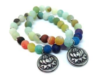 Chakra Stretch Bracelet with Charm