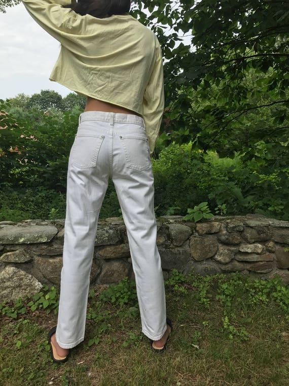 white denim jeans / vintage Gap / white denim jeans / 27 W