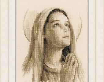 Cross Stitch Kit - Hail Mary -  Vervaco Cross Stitch Kit - Religious Cross Stitch Kit - Counted Cross Stitch