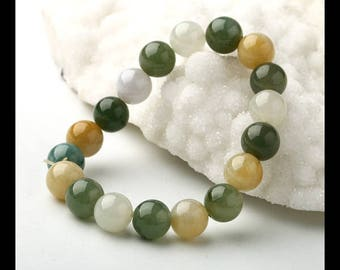 Jade Loose Beads,Bracelet Beads, 1 Strand,9cm In The Lenght,10x10mm,29.5g(i0762)