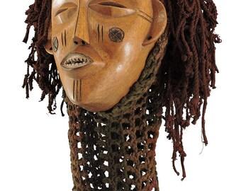 Chockwe Mask Mwana Pwo with Headdress Congo African Art 108149