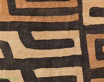 Kuba Raffia Textile Handwoven Congo African 10 Feet 107968