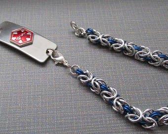 Blue Medical Alert Replacement Bracelet, Id & Medical Bracelet, Medical Id Bracelet,  Medical Alert, Custom Sizing, Etsy, Google