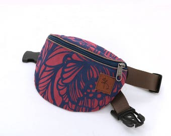 Fanny pack, bum bag, hip bag, waist purse, festival, concert, travelling bag, designer print