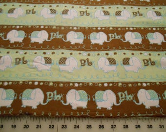 Snuggle Flannel Baby Elephants Flannel