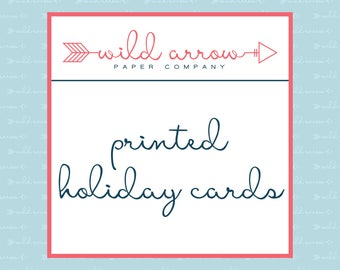 Printed Holiday Cards with Envelopes
