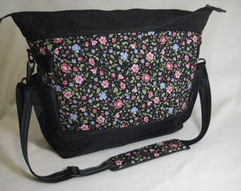 Weekender Bag, Large Bag,  Summer Bag, Overnight Bag, Carry-On, Skater Bag, Dance Bag, Soccer Bag, Skater Girl, Skateboard, DB14X13C-Flower