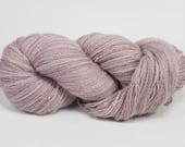 Sock Weight Alpaca Yarn! Hand Dyed! From our family alpaca farm! SEMI SOLIDS Light Purple