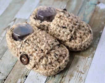 Crochet Baby Boy Booties, Baby Loafers, Crochet Shoes, Toddler Loafers, Baby Boy Booties