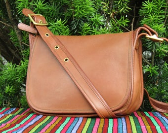 Vintage Coach Bag // Coach Leather Saddle Bag Satchel in British Tan // Coach Patricia Legacy // Leather Satchel