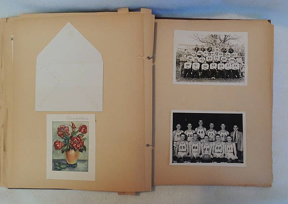 Vintage 1940s Scrapbook.. Scotia Nebraska High School.. Ephemera, Sports & Photos