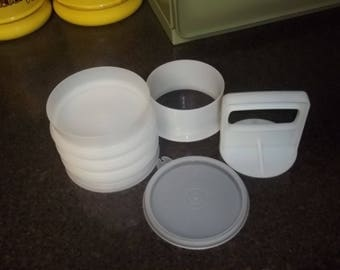 Tupperware Hamburger Large Hamburger Press Keeper   Sheer Style!