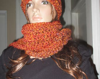 Harvest  Scarf and Hat Set   Very Stunning  Ready to Ship