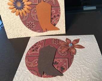 Cowgirl's birthday - set of 3 cards