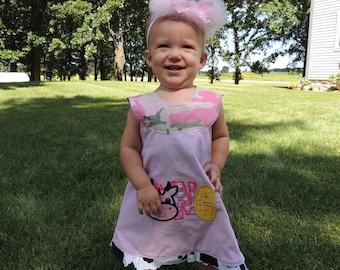 First Birthday tutu  girls first birthday outfit  Applique Tutu Tshirt Dress  for Children by Bubblebabys