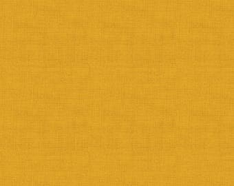 Andover Fabrics. Linen Texture. Gold - By The Yard - Choose your cut