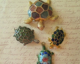 ON SALE Turtle Lover Pins & Pendant Instant Collection