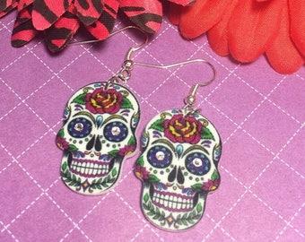 SALE Sugar Skull Earrings