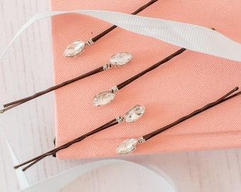 Diamante Hair Pins, Diamante Hair Slides, Bridal Bobby Pins, Rhinestone Hair Pins, Flower Girl Pins, Flower Girl Accessories, Wedding Hair