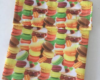Reusable snack Sandwich bags insulated School Lunch reusable bag wrap washable for kids  teenager girl french macarons macaroons cute