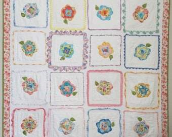 French Roses on Vintage Handkerchiefs