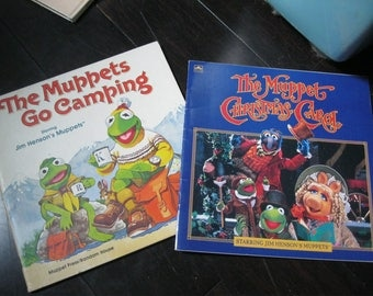 The Muppets Go Camping and The Muppets Christmas Carol Starring Jim Henson Muppets /Paperback Books