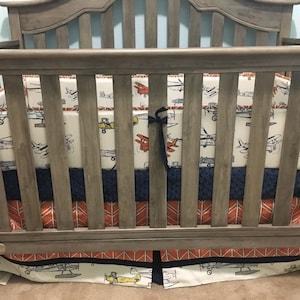 Airplane Crib Bedding Boy Bumperless Airplane Crib Bedding