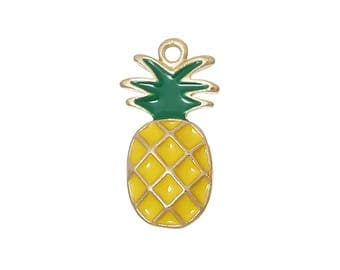 5 Pineapple Charms - C2585